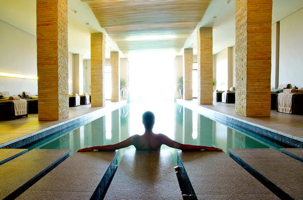 Indoor pool at Conrad Pezula Golf Resort and Spa.