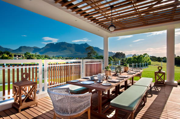 Dine outside at Fancourt.