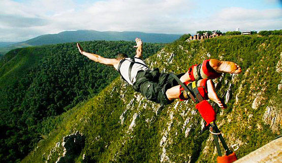 The Garden Route boasts the worlds highest bungee jump.