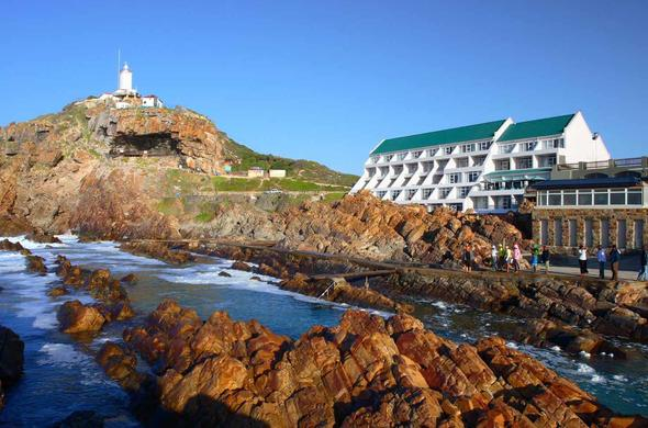 The Point Hotel is located on the Mossel bay beach.