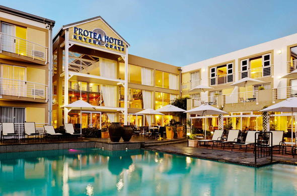Exterior view of Protea Hotel Knysna Quays in Knysna.